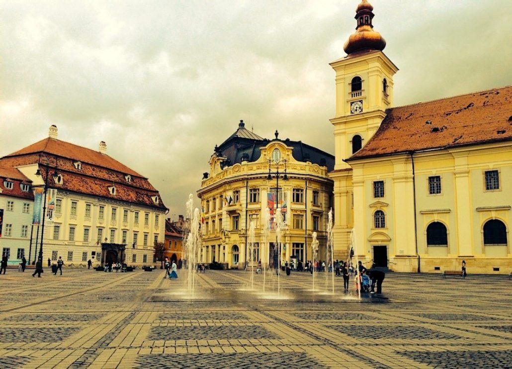 Centrul orașului Sibiu
