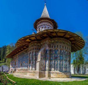 Peretele sudic al Mânăstirii Voroneț