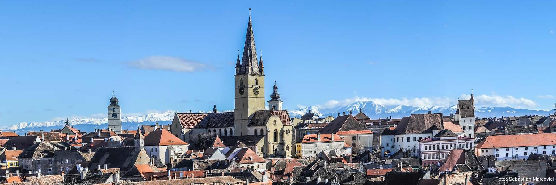 Vedere genrală a orașului Sibiu